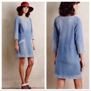Anthro AG Denim Jean Chambray Shift Dress Medium